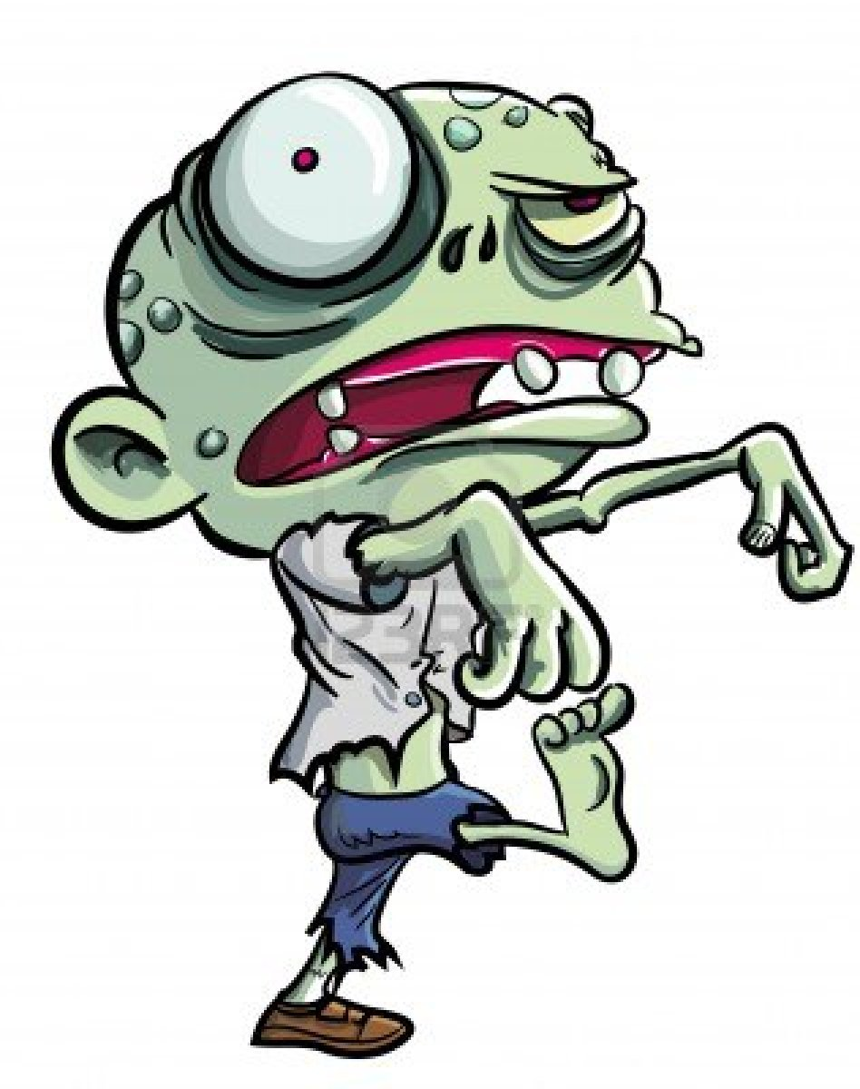 948x1200 Animated Zombie Clipart