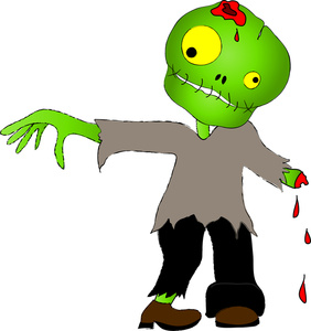 282x300 Undead Clipart Image An Undead Zombie Walking Again For Halloween