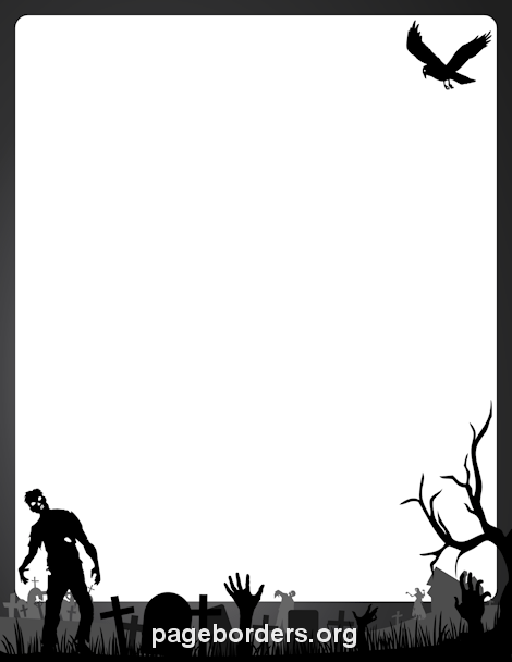 470x608 Zombie Border Clip Art, Page Border, And Vector Graphics