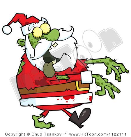 450x470 Zombie Christmas Clip Art