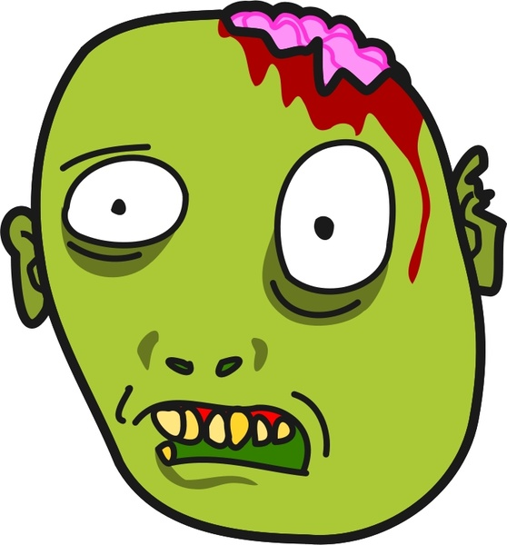 558x600 Zombie Svg Free Vector Download (85,010 Free Vector)