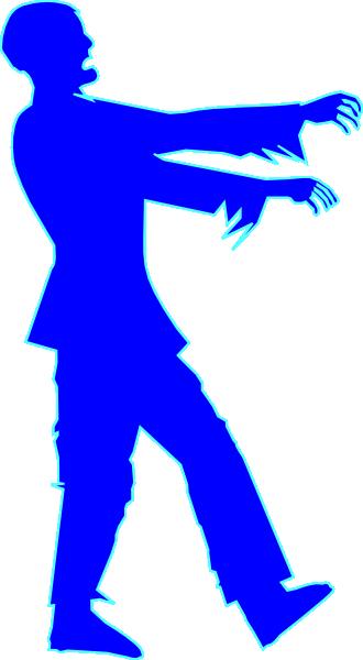 330x600 Blue Zombie Clip Art
