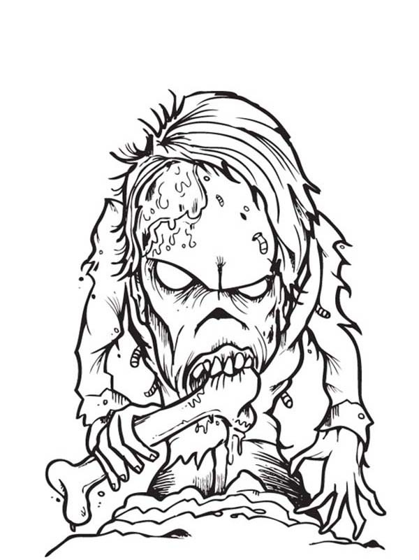 600x801 Free Printable Zombies Coloring Pages For Kids