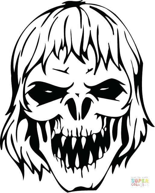 514x640 Halloween Zombie Coloring Pages Printable Free Zombies Thaypiniphone
