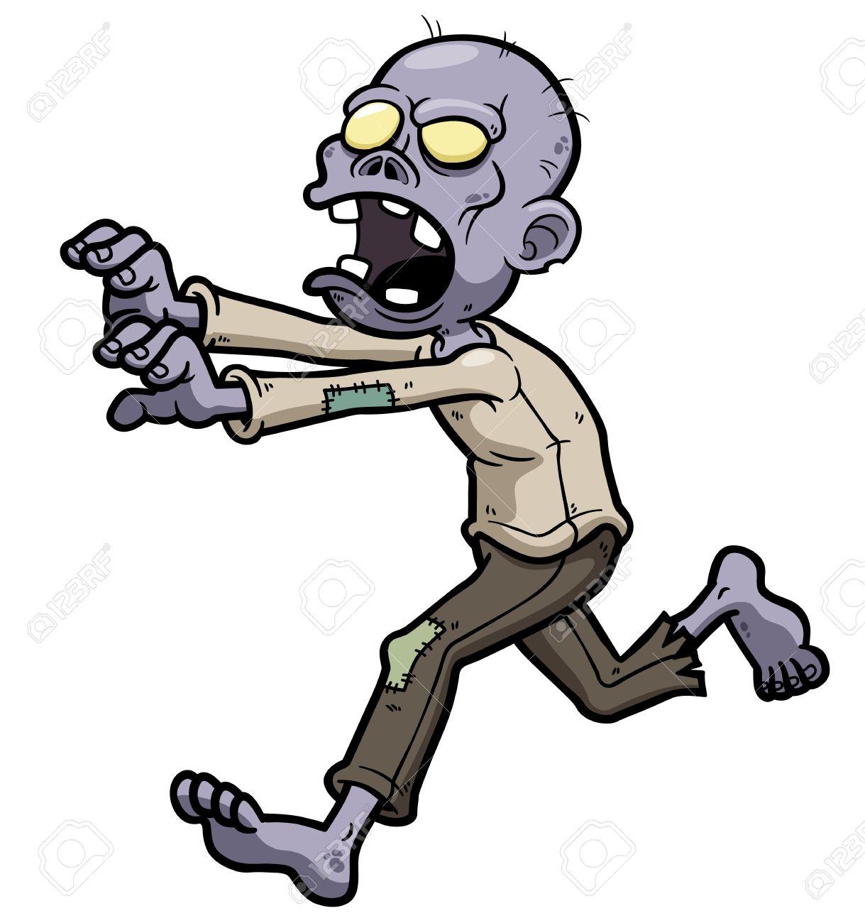 1219x1300 Vector Illustration Of Cartoon Zombie Royalty Free Cliparts