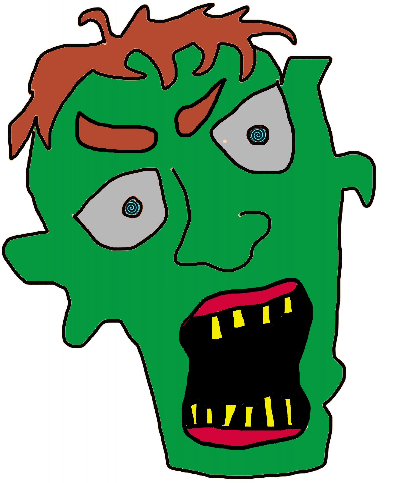 1645x1920 Zombie Head Cartoon Free Stock Photo