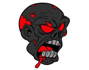 300x235 Zombie Head Clipart