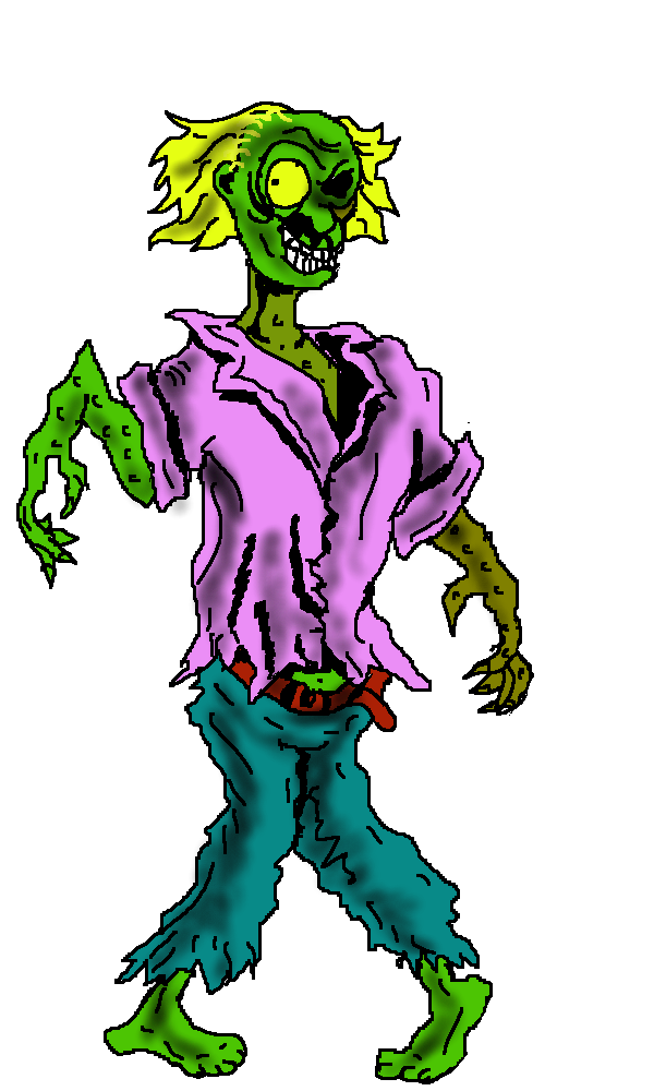 600x1000 Free Zombie Clipart Images