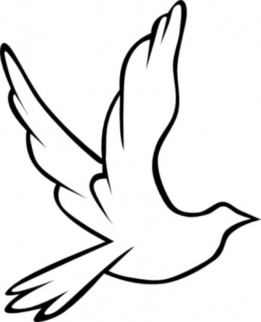 508x626 Flying Dove Silhouette Clip Art Showing Freedom And Peace