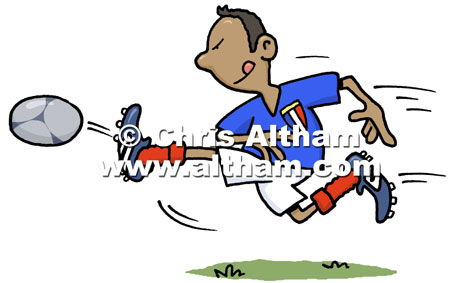 451x283 Footballer Cartoon