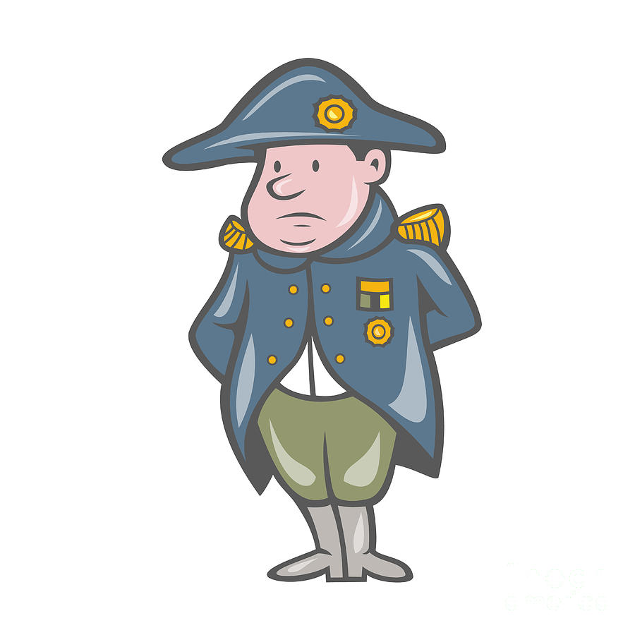 900x900 French Military General Cartoon Digital Art By Aloysius Patrimonio