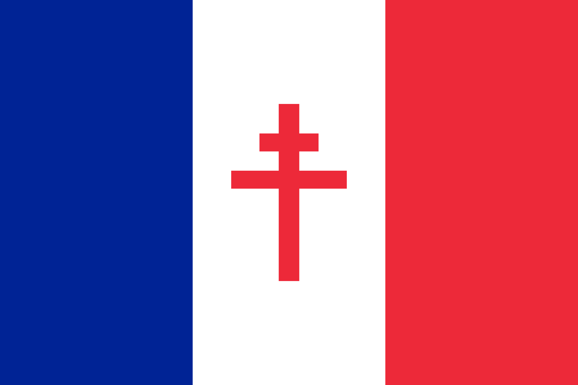 2000x1333 Fileflag Of Free France (1940 1944).svg