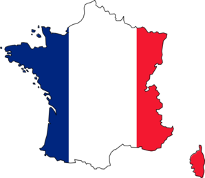 298x258 France Flag Clip Art