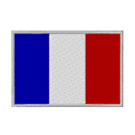 458x458 French Flag Iron On Patch, Paris Flag