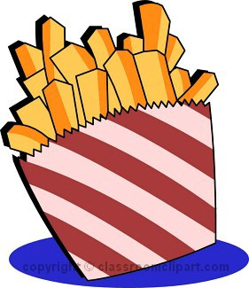 281x325 French Fries Clipart