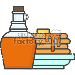 300x300 Royalty Free Pancakes And Syrup Vector Clip Art Images 403840