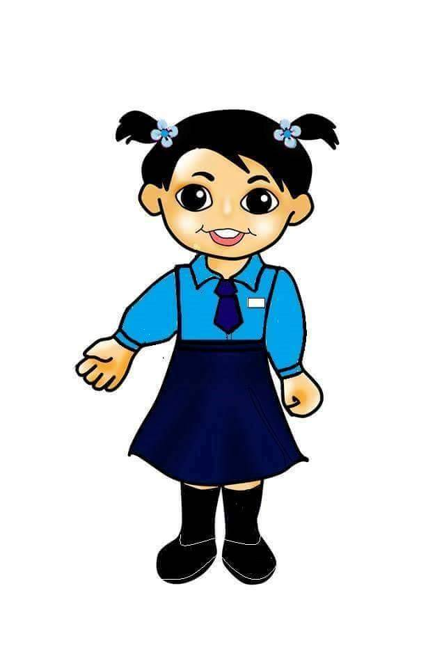 615x960 Girl With School Uniform Doodle Clip Art Clip Art
