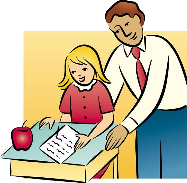 598x584 Student Helping Teacher Clipart Letters Example