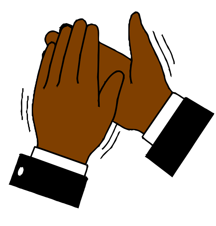 687x720 Free Vector Graphic Hands Clapping Applause Image On Clipart
