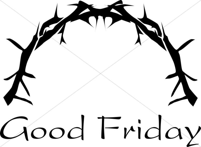 776x566 Thorny Crown With Good Friday Lent Word Art
