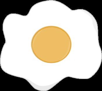 350x311 Fried Egg Clip Art