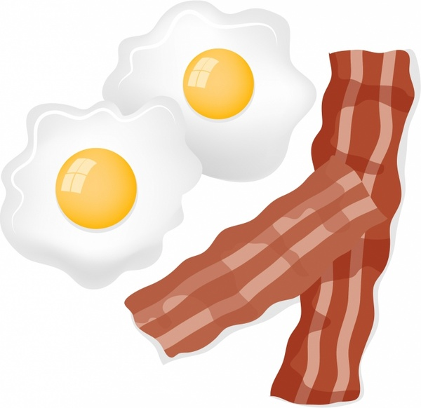 600x582 Bacon And Eggs Free Vector In Adobe Illustrator Ai ( Ai
