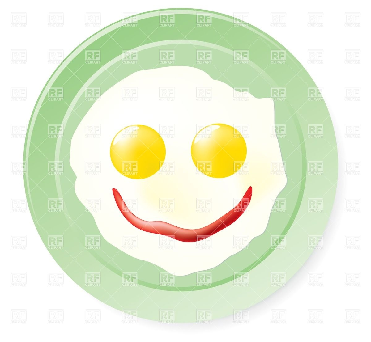 1200x1107 Fried Eggs And Ketchup In Smile Form Royalty Free Vector Clip Art