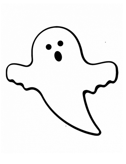 432x559 Friendly Ghost Clipart