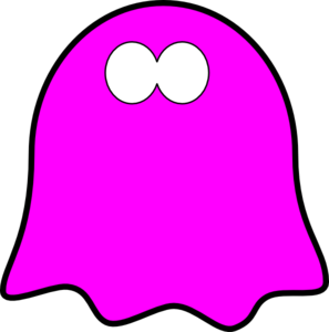 297x300 Friendly Dark Pink Ghost, Wavy Base Clip Art