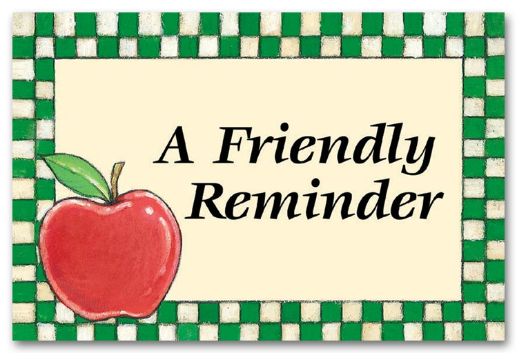 Clip Art Calendar Reminder : Friendly reminder clipart free download best