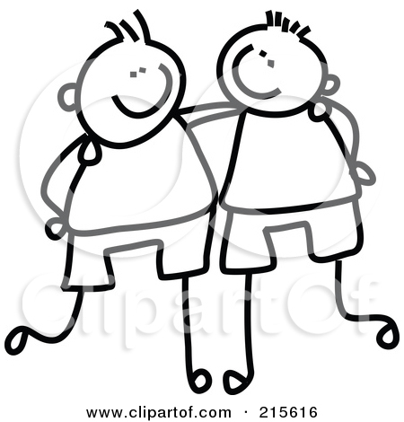 Friends Clipart Black And White   Free download best ...