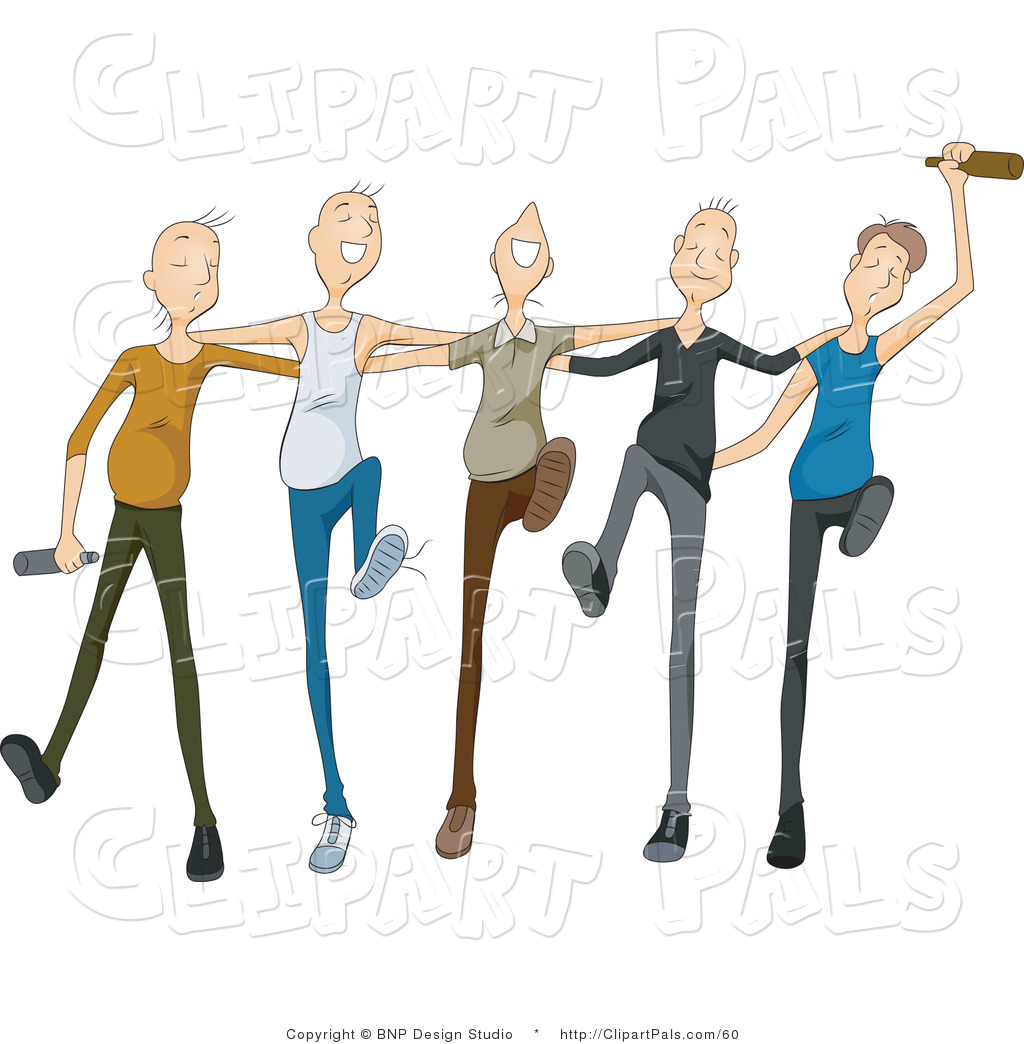 1024x1044 Pal Clipart Of A Group Of Drunk Young Men Drinking And Dancing