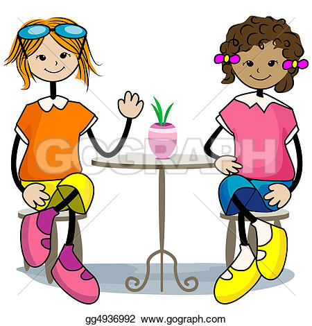 450x470 Girls Hanging Out With Friends Clipart