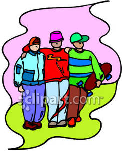 243x300 Friends Together Clipart