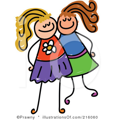 400x420 Girls Hanging Out With Friends Clipart