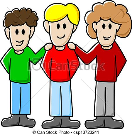 450x460 Cartoon Friends Clipart