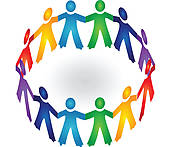 170x147 Clip Art Of Paper People In Circle Holding Hands K9473397