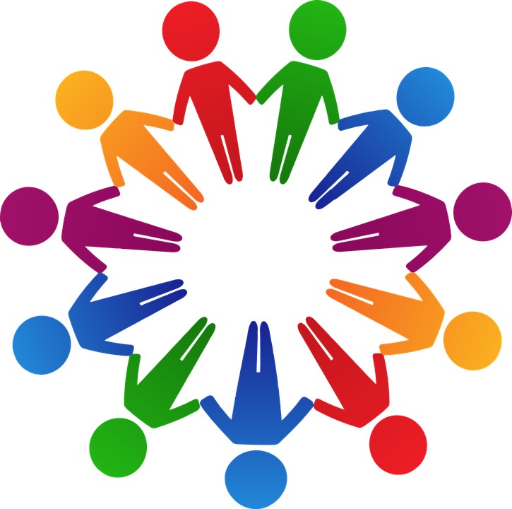 725x720 Free Photo Circle Human Colorful Cooperation Holding Hands