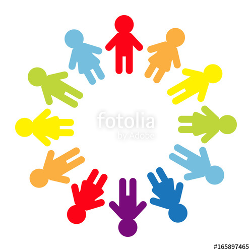 500x500 Man And Woman Pictogram Icon Sign. People Round Circle. Timework