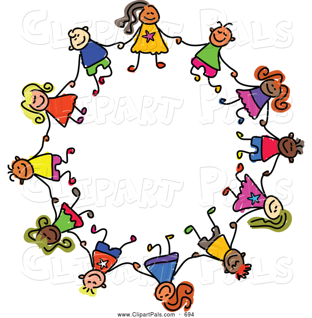 1024x1044 Pal Clipart Of Childs Sketch Of Ring Of Boysnd Girls In