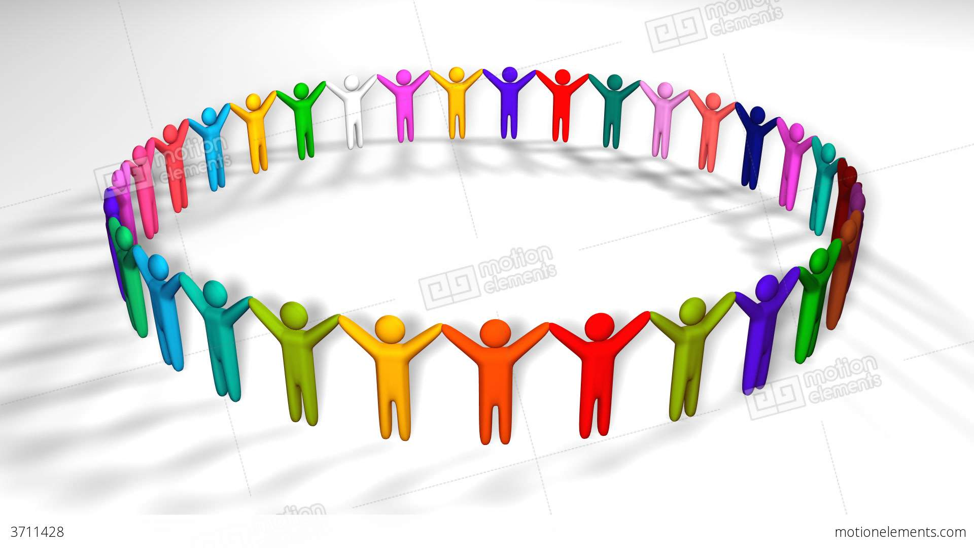 1920x1080 People Holding Hands In A Circle Stock Animation 3711428