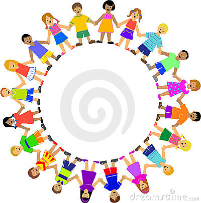 400x405 Clipart Holding Hands Circle