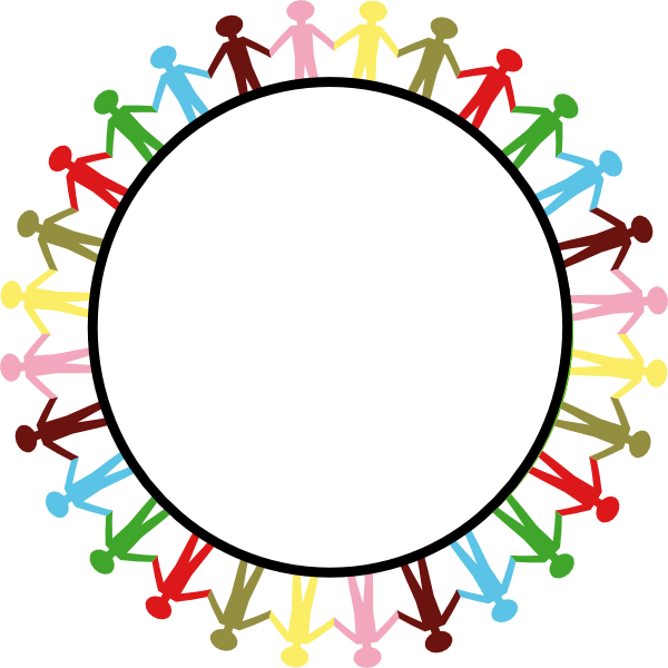 600x600 Circle Holding Hands Clip Art