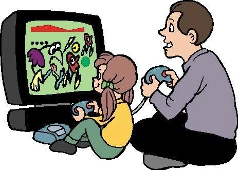 463x331 Friends Playing Video Games Clipart Letters Example