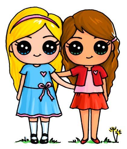 420x491 The Best Cute Best Friend Drawings Ideas Friend