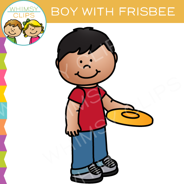 600x600 Boy With A Frisbee Clip Art , Images Amp Illustrations Whimsy Clips