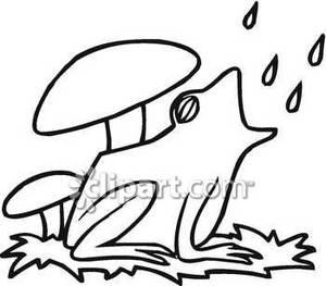 300x263 Rain Clipart Frog