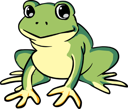 432x368 Cartoon Clipart Frog
