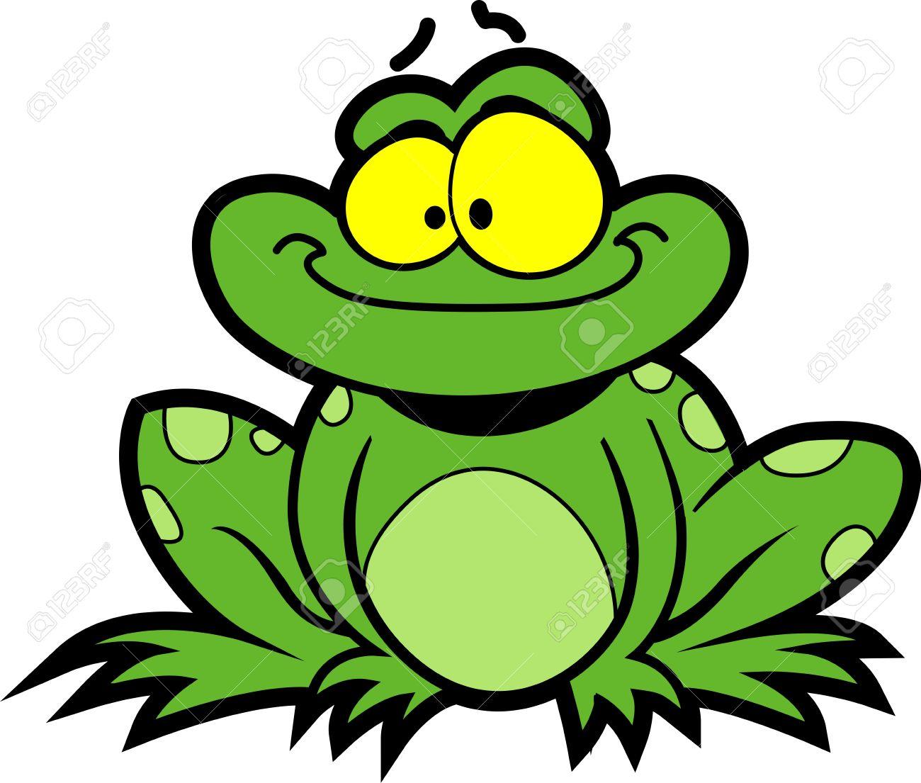 1300x1105 Happy Smiling Cartoon Frog Royalty Free Cliparts, Vectors,