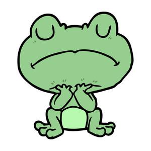 300x300 Cartoon Frog Royalty Free Stock Image